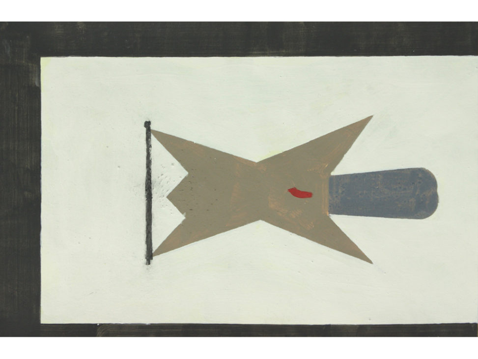 David Webb Beaver 2013 Acrylic, charcoal and pumice on paper 30.5x46.5cm