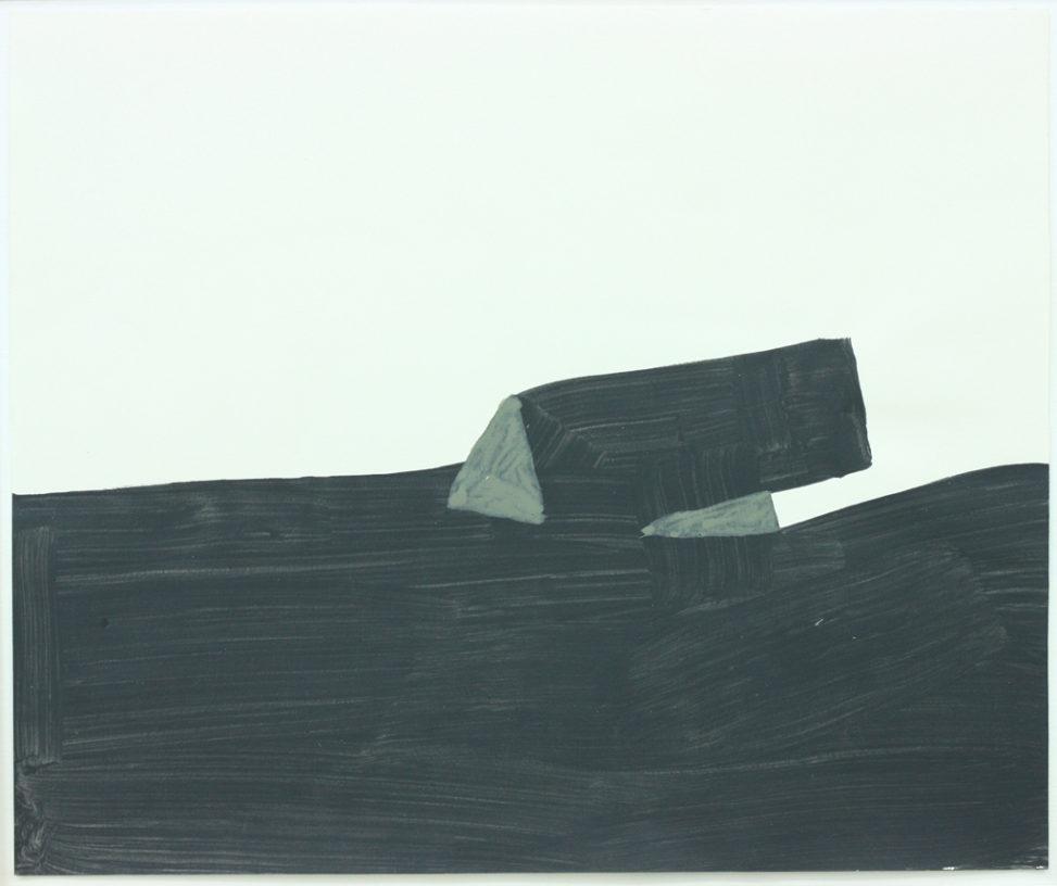 David Webb Bunker 2013 Acrylic on paper 32x38cm