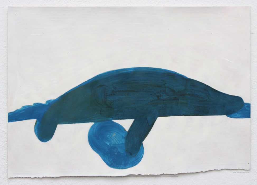 David Webb Crocodile (For M) 2012 Acrylic on paper 20.5x29.5cm