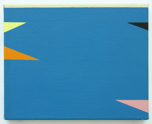 David Webb Laguna San Ignacio II 2011 Acrylic on canvas 20.5x25.5cm