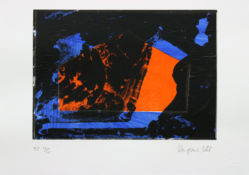 David Webb Lemba Bird (For SW) X 2015 Chine-colle and photo etching on Somerset 300gsm paper 32x40cm