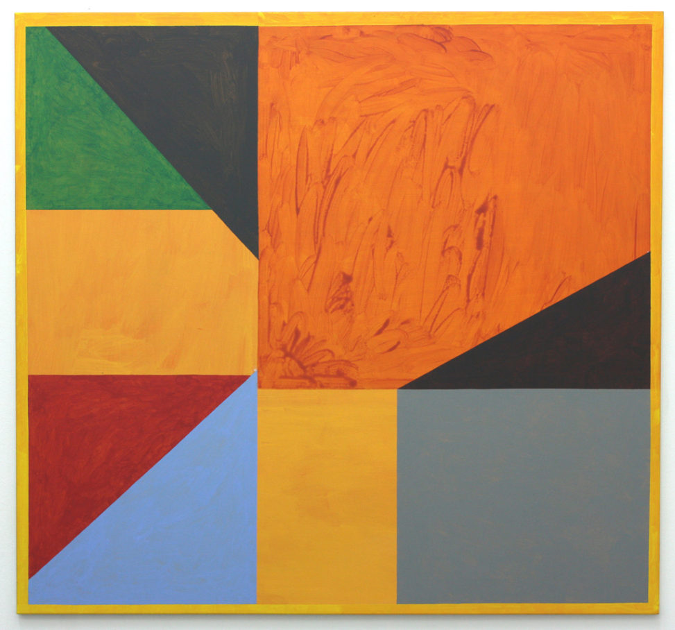 David Webb Lemba Tree (Orange) 2014 Acrylic on canvas 140x150cm