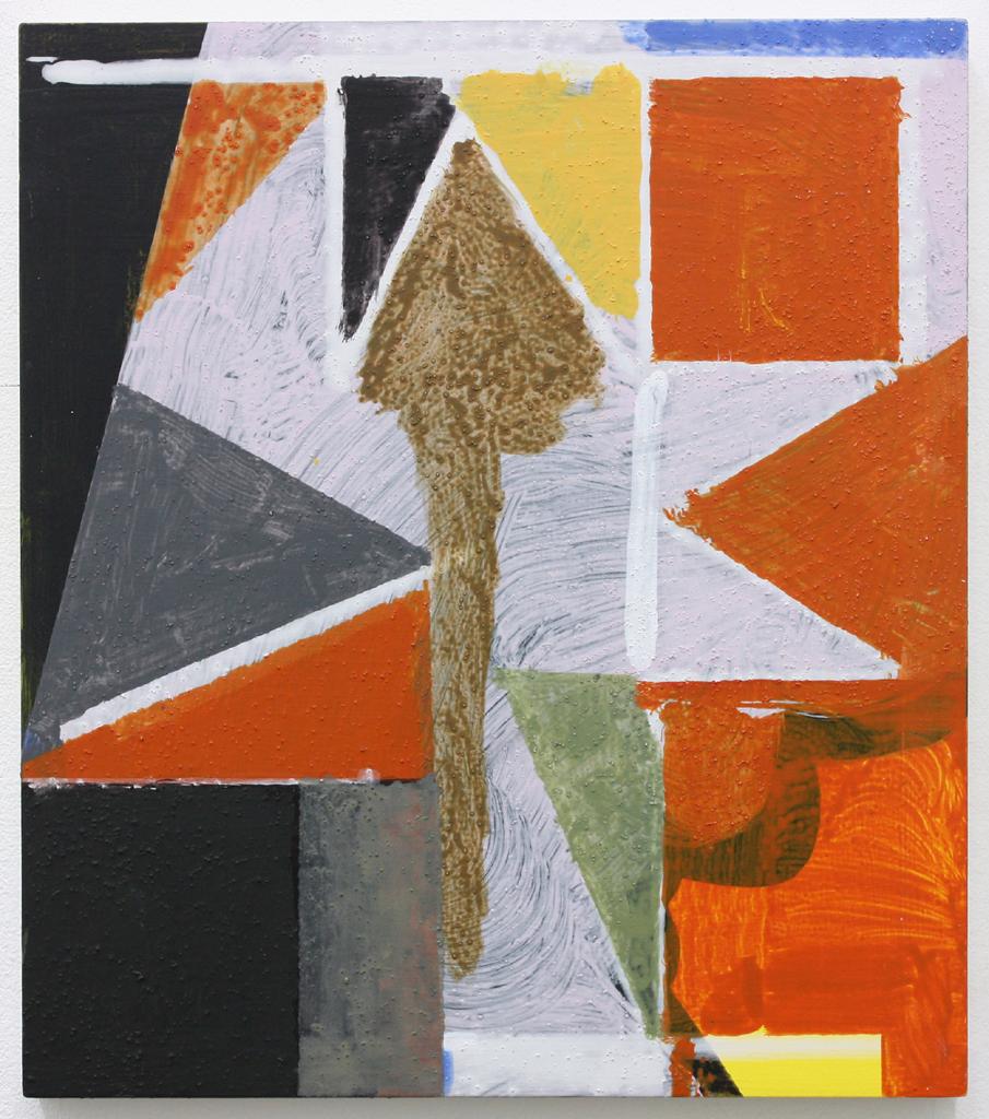 David Webb Lemba Tree 2016 Acrylic and pumice on panel 34x30cm
