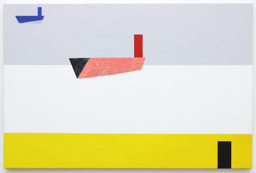 David Webb Limassol 2015 Acrylic and pumice on canvas 51x76cm
