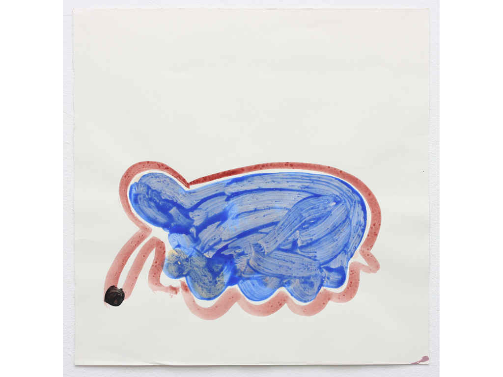 David Webb Pachyderm (Blue) 2012 Acrylic and pumice on paper 45.5x46cm