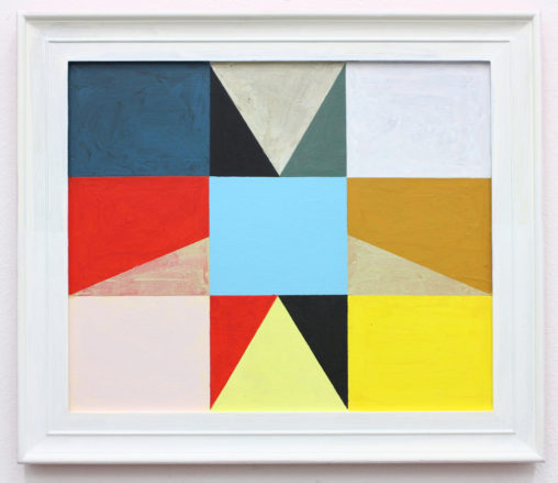 David Webb Parcheesi (Blue) 2016 Acrylic and on panel and found frame 40x46cm