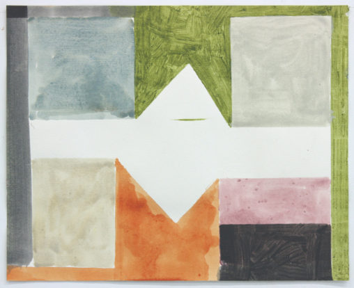 David Webb Parcheesi (Vermont) II 2012 Acrylic on paper 31x38.5cm