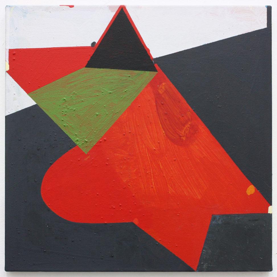 David Webb Parrot 2016 Acrylic and pumice on canvas 51x51cm