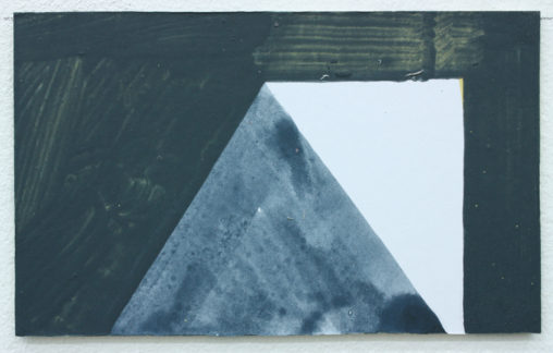David Webb Pyramid 2013 Acrylic on card