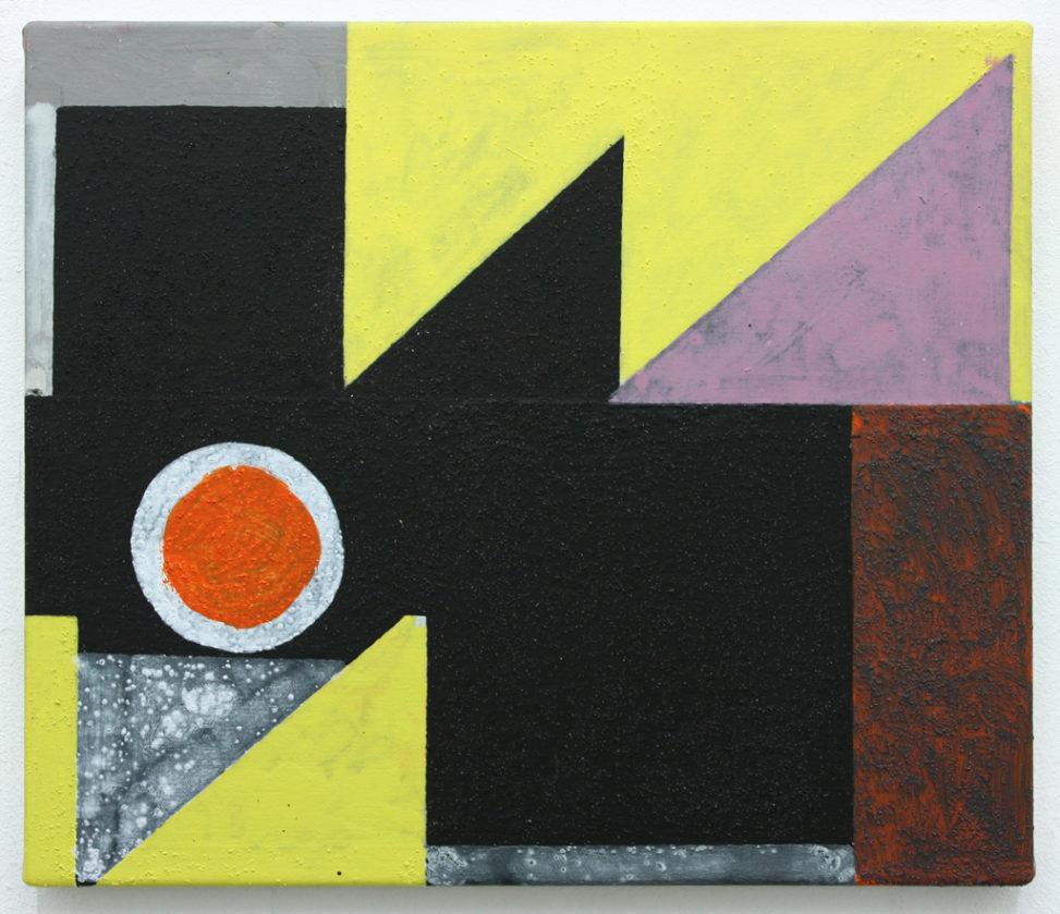 David Webb Reservoir 2013 Acrylic and pumice on canvas 31x36cm