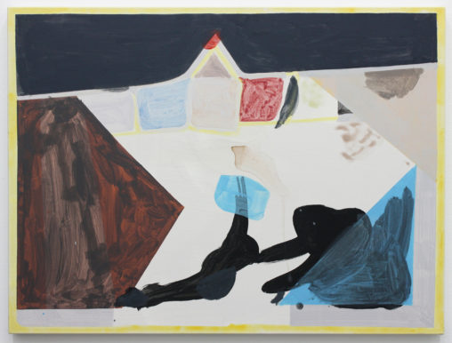 David Webb Roof Garden 2014 Acrylic on canvas 100x76cm