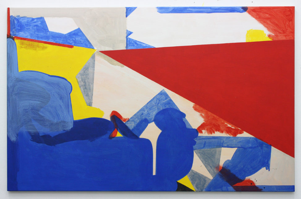 David Webb Suez (Sun) 2014 Acrylic on canvas 90x140cm