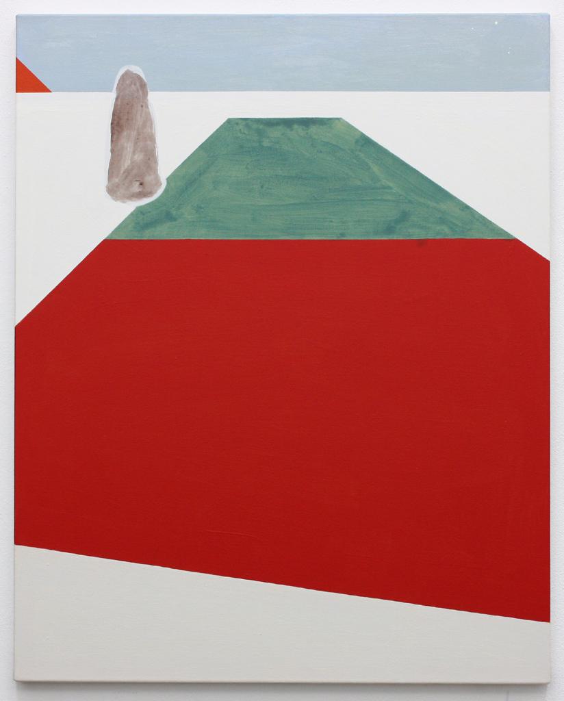 David Webb Suez (de Lesseps) 2016 Acrylic on canvas 76x61cm