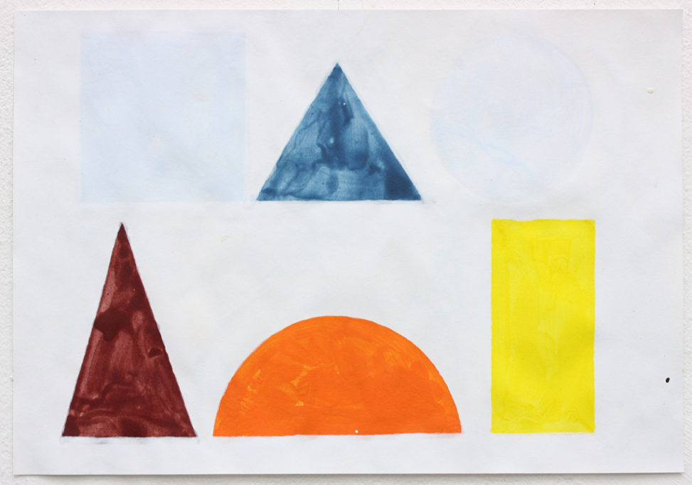 David Webb The Back Of Us Is A Mountain 2015 Acrylic on paper 20x28.5cm