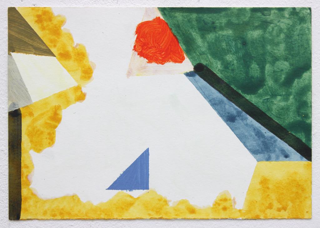 David Webb Three (Red) 2016 Acrylic on paper 17.5x25.5cm