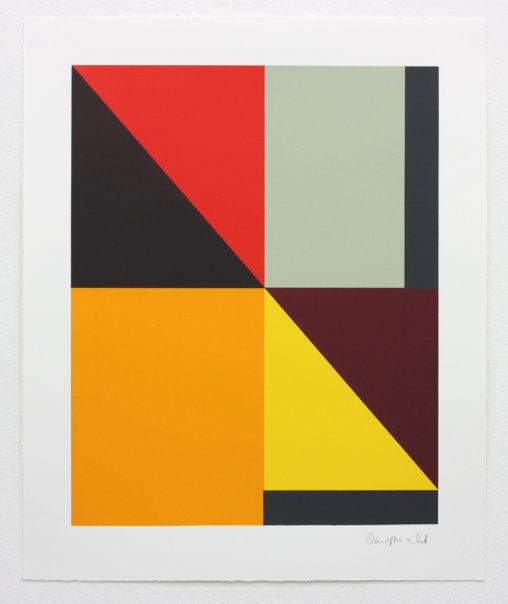 David Webb Untitled (Beak) I 2015 Screenprint on Somerset Velvet 300gsm paper (monotype) 63x51.5cm