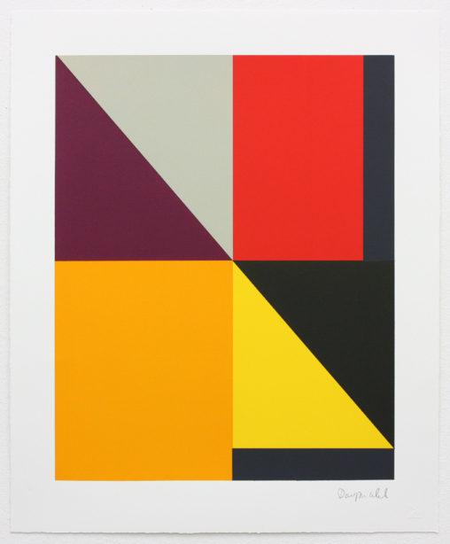 David Webb Untitled (Beak) V 2015 Screenprint on Somerset Velvet 300gsm paper (monotype) 63x51.5cm