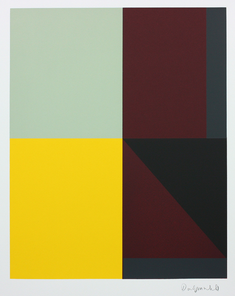 David Webb Untitled (Beak) III 2015 Screenprint on Somerset Velvet 300gsm paper (monotype) 63x51.5cm