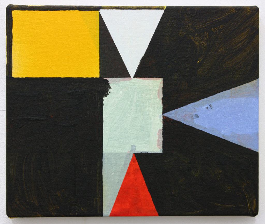 David Webb Untitled (Black) 2016 Acrylic and spray paint on canvas 26x31cm