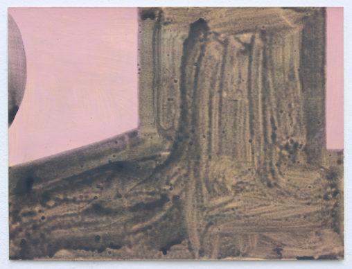 David Webb Untitled (Lemba Huts) 2015 Acrylic on paper 21x28cm