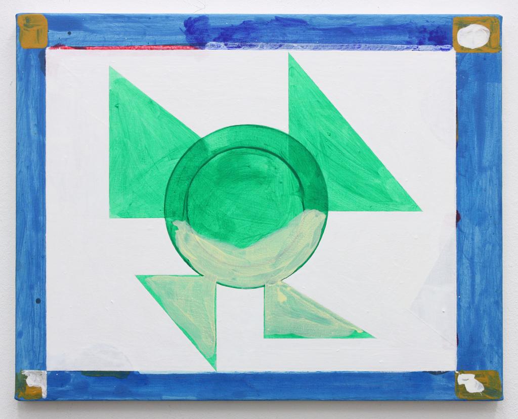 David Webb Untitled (Lowell) 2016 Acrylic on canvas 41x51cm