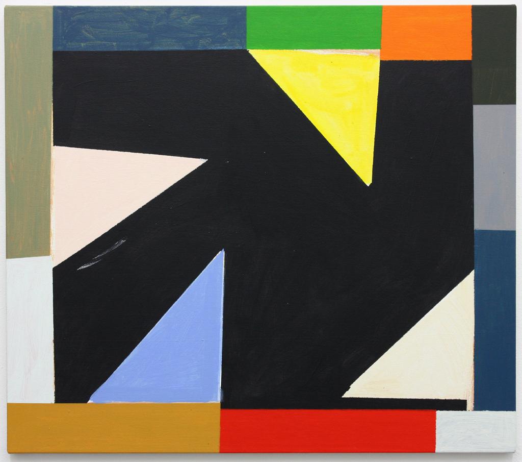 David Webb Untitled (Ochre For GR) 2015 Acrylic on canvas 71x81cm