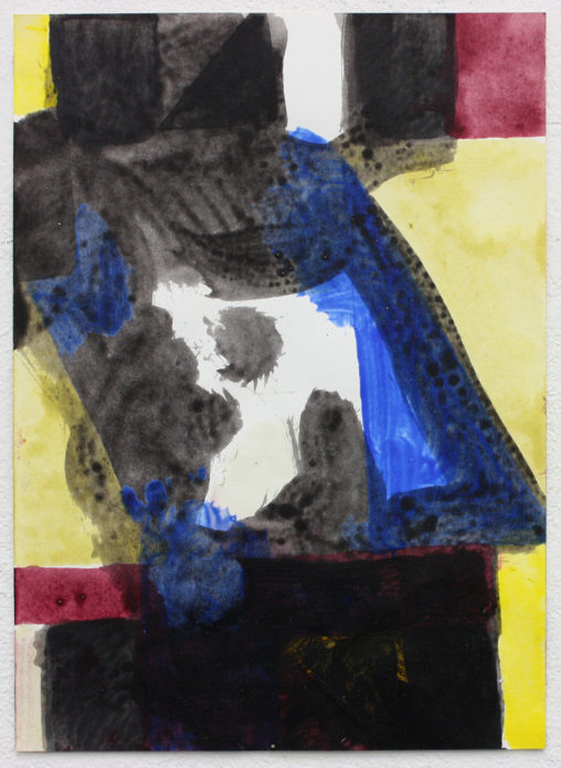 David Webb Untitled (SL) 2015 Acrylic on paper 21x15cm