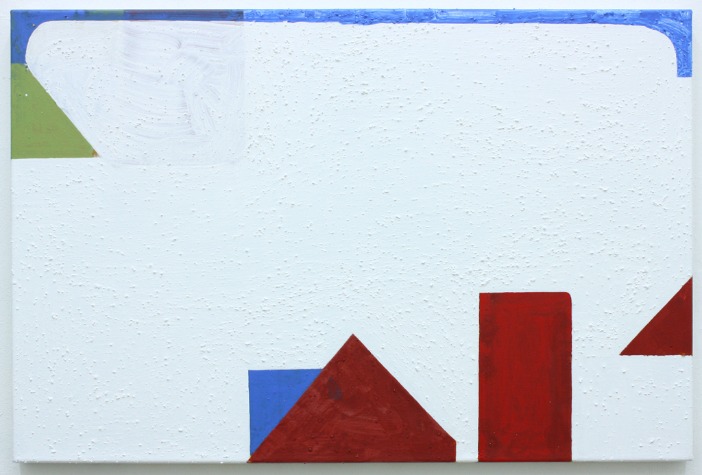 David Webb Vermonter 2012 Acrylic and pumice on canvas 51x77cm