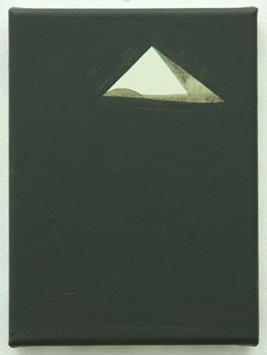 Suez Pyramid 2012 acrylic on canvas 22x17cm