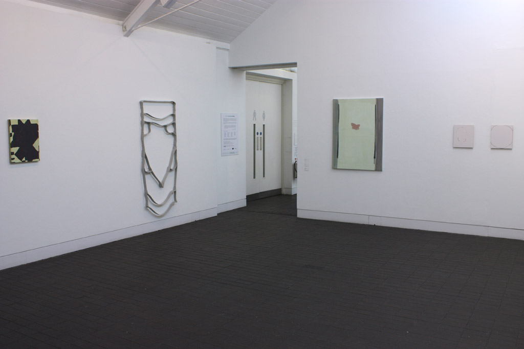 'Jerwood Contemporary Painters', Jerwood Space, London and tour (2009). 3rd from right: Monarch (For EMS) (2007)