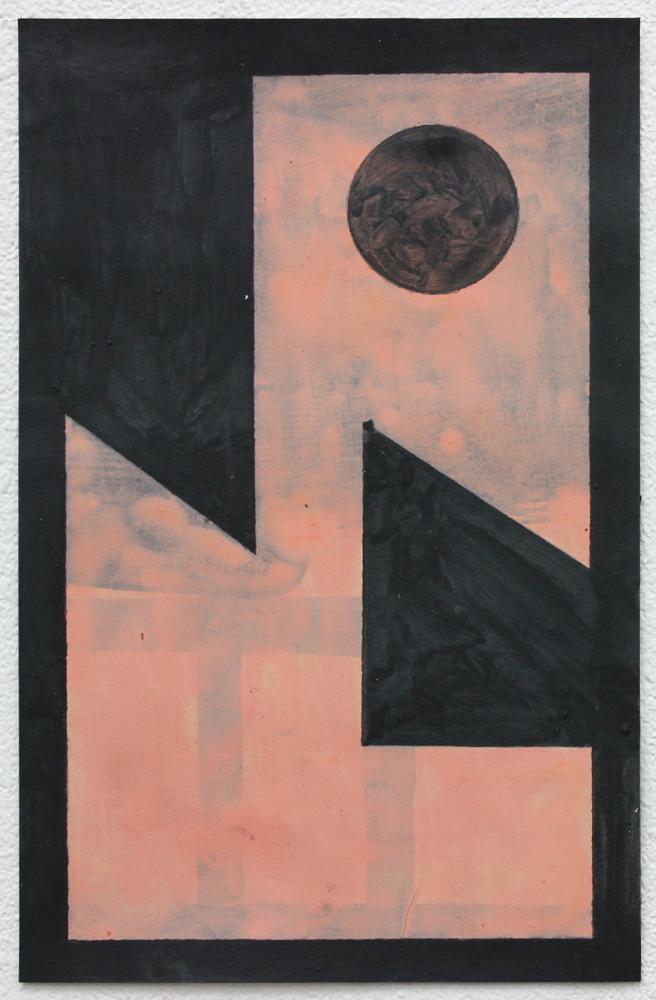 David Webb Galata (Pink) 2019 Acrylic on paper 20.5 x 13.5 cm