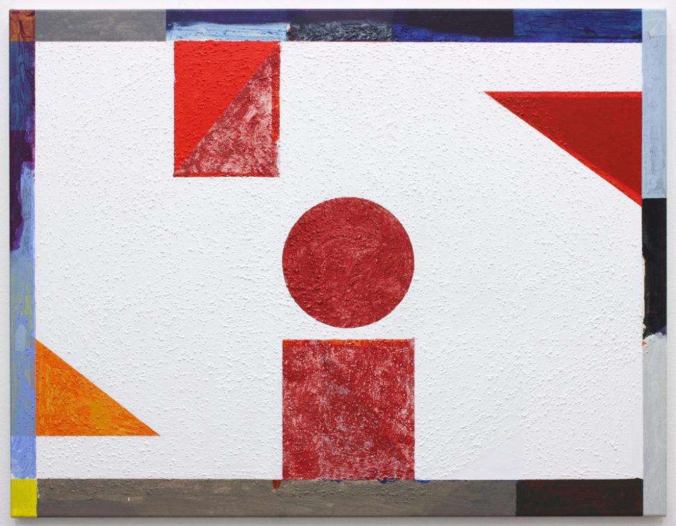 David Webb Galata (White) 2018 Acrylic and pumice on canvas 85 x 110 cm