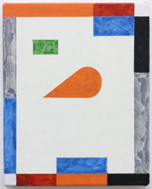 David Webb Nursery (Orange) 2017 Acrylic on canvas 26 x 21 cm