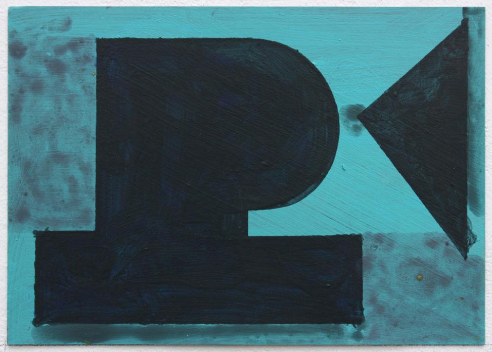 David Webb Papa 2017 Acrylic on card 15 x 21 cm