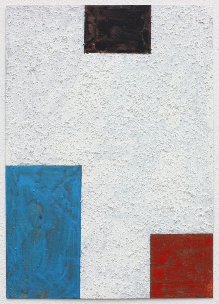 David Webb Untitled (Blue) 2016 Acrylic and pumice on card 21 x 15 cm
