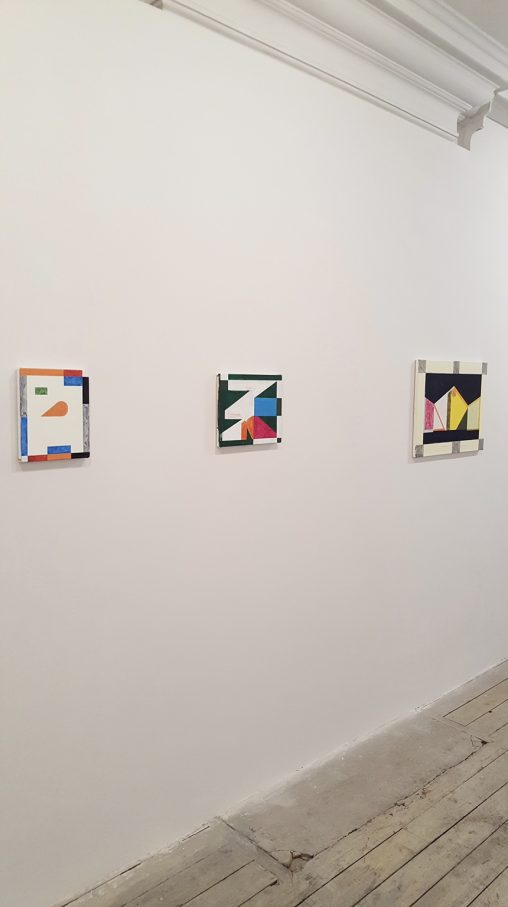 Installation shot of 'Shape Recognition' at Eagle Gallery