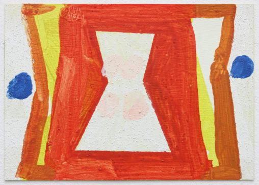 David Webb Billie 2016 Acrylic and pumice on card 15x21cm