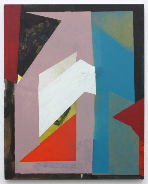 David Webb If You Jump Awake 2015 Acrylic and spray paint on canvas 51x41cm
