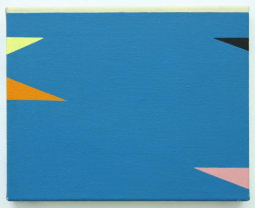 David Webb Laguna San Ignacio II 2011 Acrylic on canvas 20.5x25.5cm