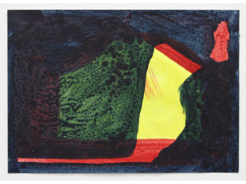 David Webb Lemba Bird (For SW) 2015 Acrylic and pumice on paper 21x29cm