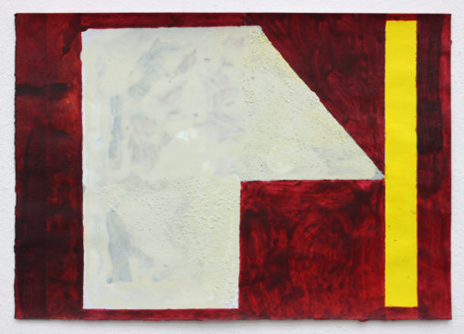 David Webb Plan 2015 Acrylic and pumice on paper 22x32cm