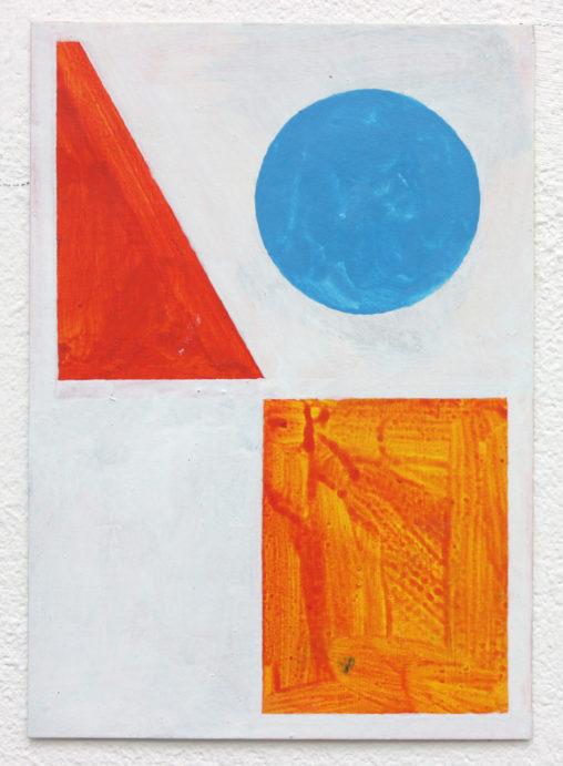 David Webb Reservoir 2016 Acrylic on card 15x10.5cm