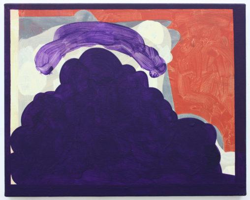David Webb Storm Over a Purple Landscape 2012 Acrylic on canvas 40x51cm