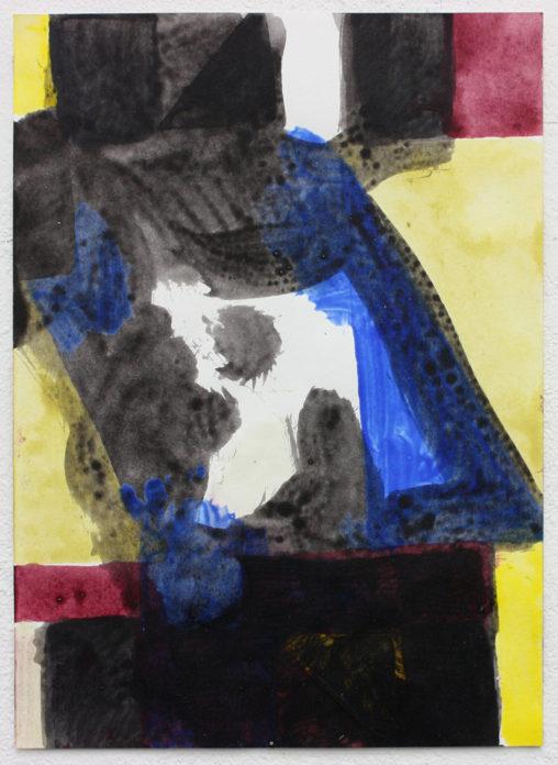 David Webb Untitled (SL) 2015 Acrylic on paper 21x15cm
