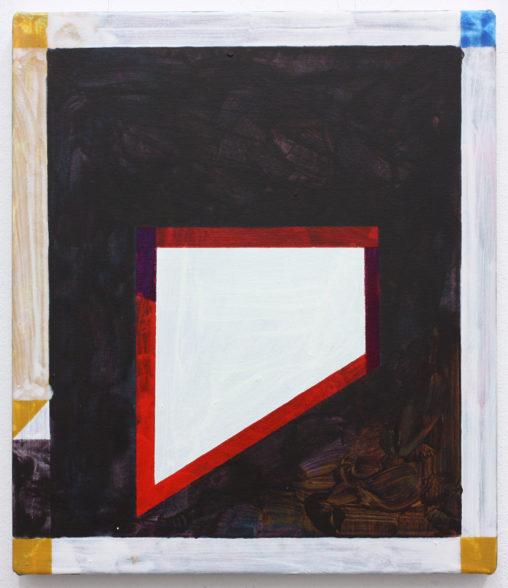 David Webb Wapping (Black) 2015 Acrylic on canvas 36x41cm
