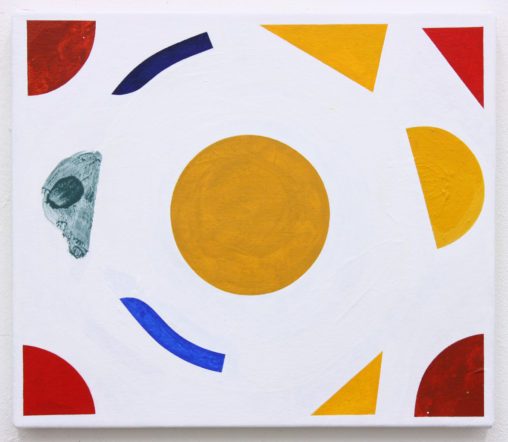 David Webb Kakopetria 2016 Acrylic and pumice on canvas 31x36cm