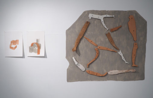 After the Primitives installation shot, image courtesy dalla Rosa gallery