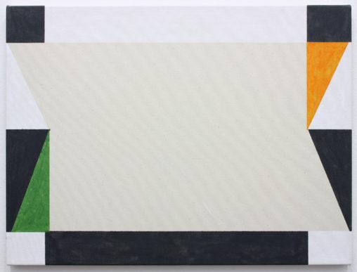 David Webb Aubeterre (Green) 2019 Acrylic on canvas 46 x 61 cm
