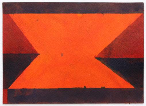 David Webb Galata (BC Orange) 2018 Ink on paper 13.5 x 19 cm