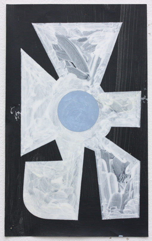 David Webb Galata (Black) 2019 Acrylic on paper 28 x 17 cm